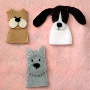 Puppy Dog Finger Puppets + Free Pattern - Pinterest Projects {Felt With Love Designs}