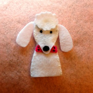 Puppy Finger Puppets - Poodle