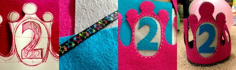 Pinterest Projects: A Birthday Crown for The Monkey
