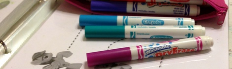 Busy Bags: Dry Erase Binder and Markers