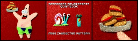 Quiet Book: Spongebob Squarepants Quiet Book Page - Part 1 (Free Pattern!)