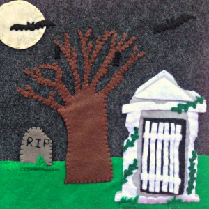 Halloween Quiet Book - Cemetery Page Full