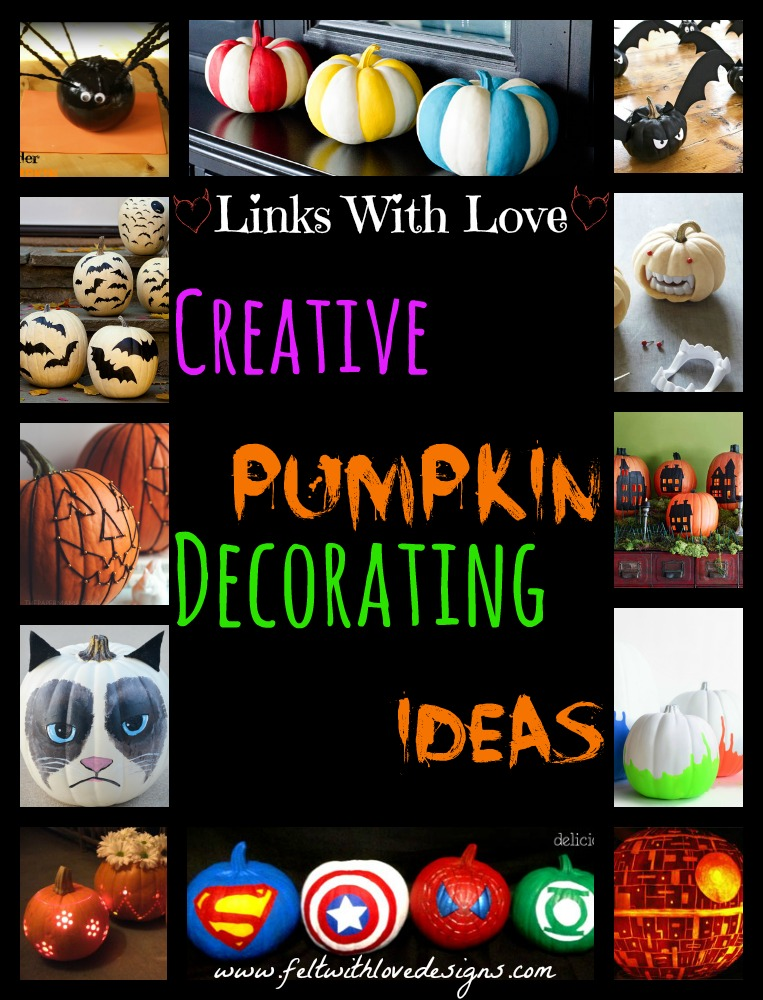 Links With Love Creative Pumpkin Decorating Ideas
