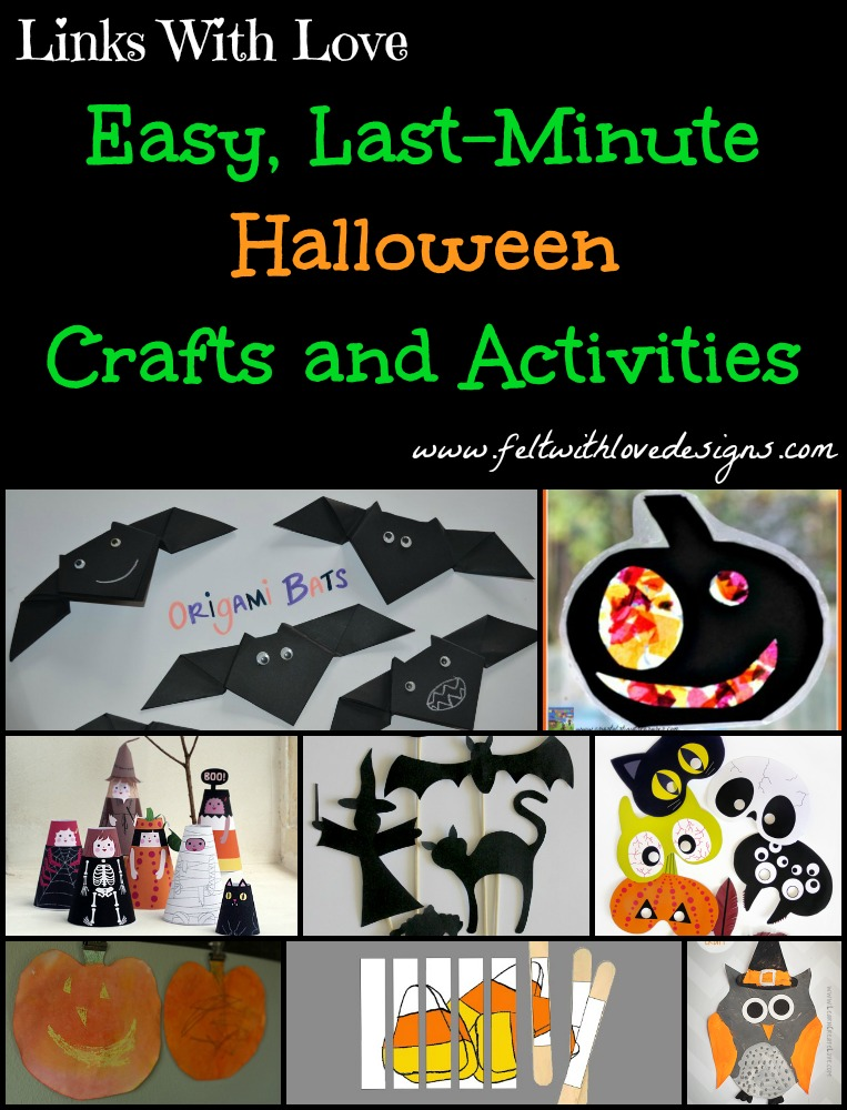 Links With Love - Easy Last Minute  Halloween Crafts and Activities Title