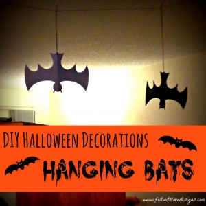 pinterest projects diy halloween decorations hanging bats