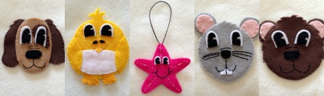 Felt Toddler-Friendly Advent Christmas Tree - Peek at The First 5 Ornaments