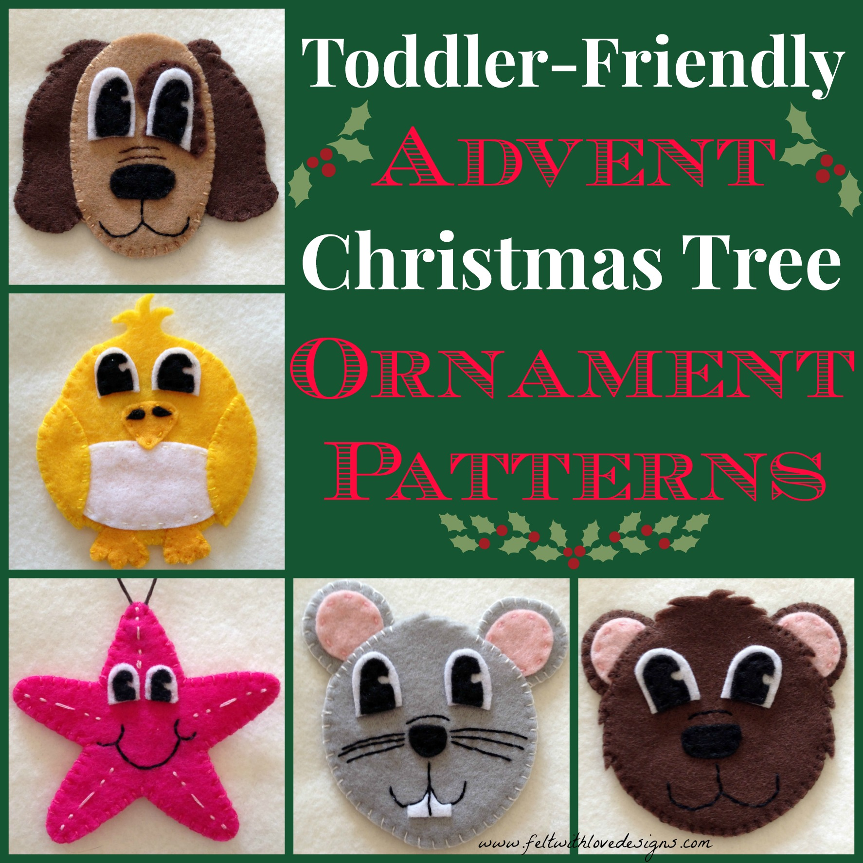 Felt Toddler-Friendly Advent Christmas Tree – Peek at The First 5 ...