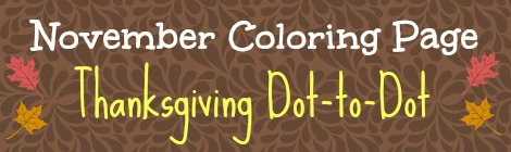 Free Printable Coloring Page - Thanksgiving Dot-to-Dot