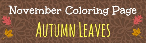 Free Printable Coloring Page - Autumn Leaves