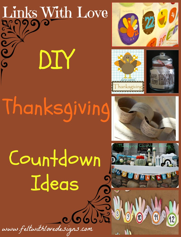 Links With Love - Thanksgiving Countdown Ideas Title