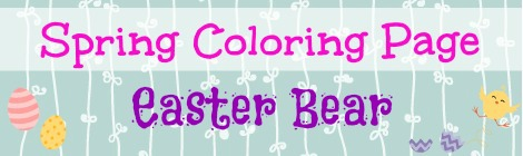 Free Printable Coloring Page - Easter Bunny Bear