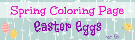 Free Printable Coloring Page - Easter Eggs