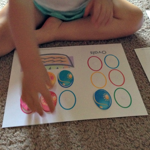 Printable Quiet Book Ovals Page