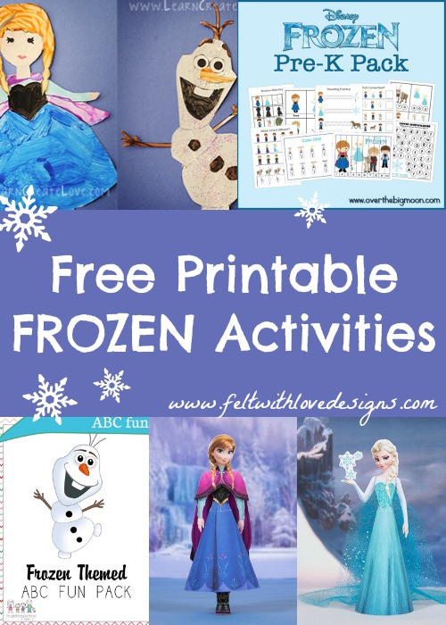 Links With Love: Free Printable Frozen Crafts and Activities (Felt With Love Designs)