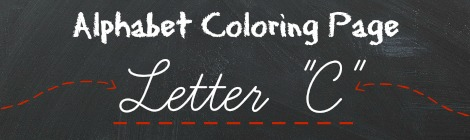 Free Printable Alphabet Coloring Pages - Letter C