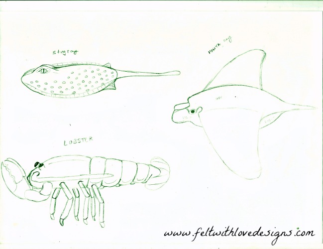 Ocean Finger Puppets - Set 2 - Sketch 1