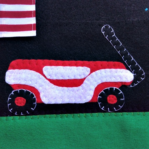 4th of July Quiet Book - Wagon