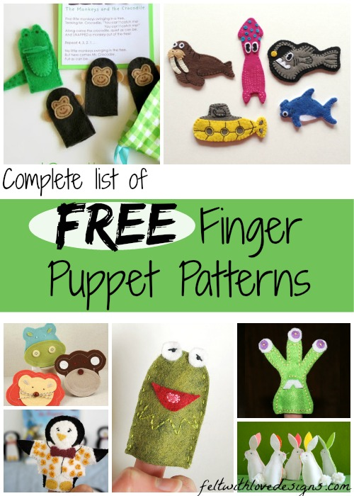 The Complete List of Free Finger Puppet Patterns and Tutorials {Felt With Love Designs}