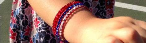 Pinterest Projects: Red, White, and Blue Wrap Bracelet