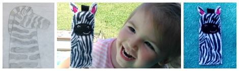 Zebra Finger Puppet Free Pattern and Tutorial