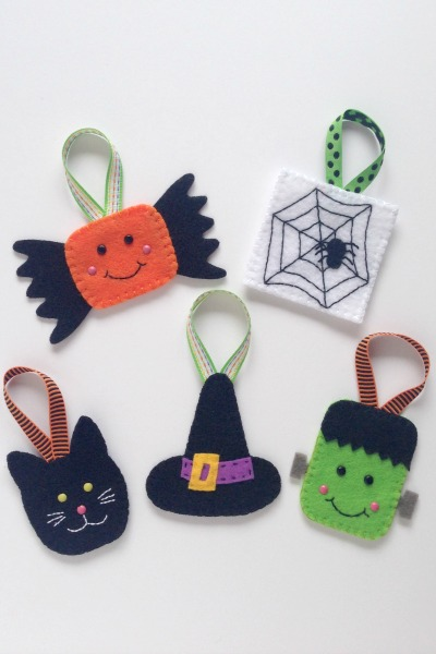 Felt Halloween Ornaments Set 2 Tutorial and Free Pattern - All - Felt With Love Designs