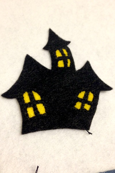 Felt Halloween Ornaments Tutorial and Free Pattern - Haunted House Windows - Felt With Love Designs