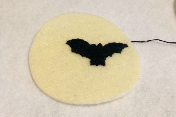 Felt Halloween Ornaments Tutorial and Free Pattern - Moon Bat - Felt With Love Designs