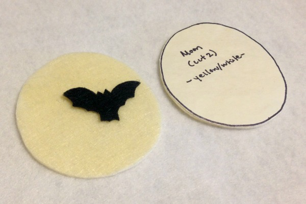 Felt Halloween Ornaments Tutorial and Free Pattern - Moon Pieces - Felt With Love Designs