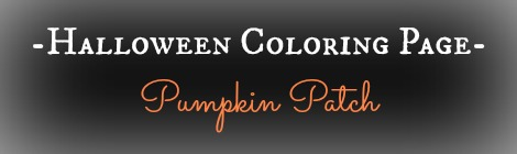 Free Printable Halloween Coloring Page - Pumpkin Patch