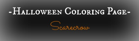Free Printable Halloween Coloring Page - Scarecrow