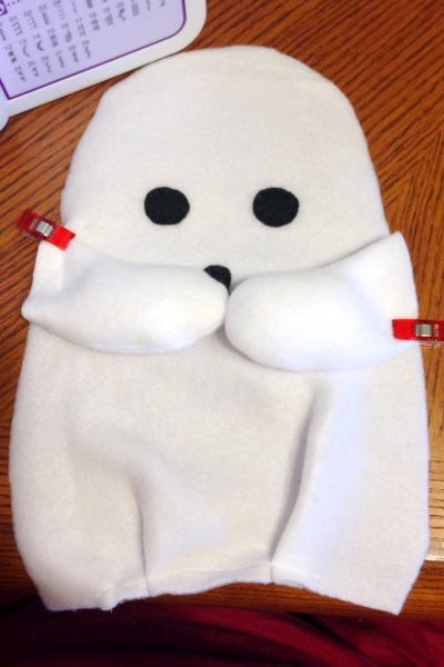 Ghost Blankie Buddy Tutorial and Free Pattern - Arms - Felt With Love Designs