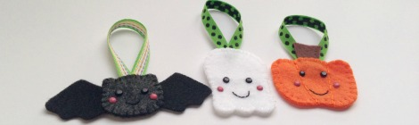 Pinterest Projects: Felt Halloween Ornaments