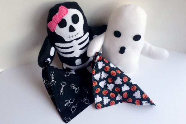 Skeleton Blankie Buddy - And Ghost - Felt With Love Designs