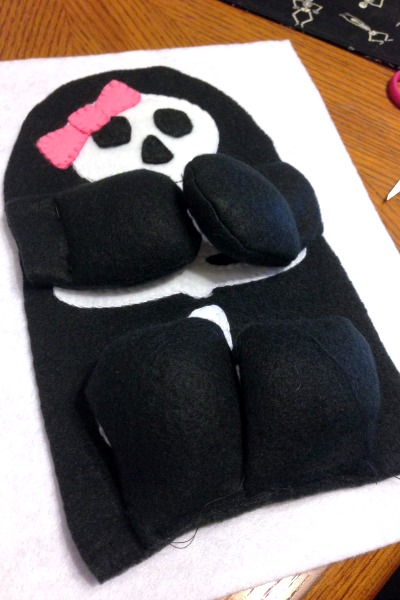 Skeleton Blankie Buddy - Arms and Legs - Felt With Love Designs