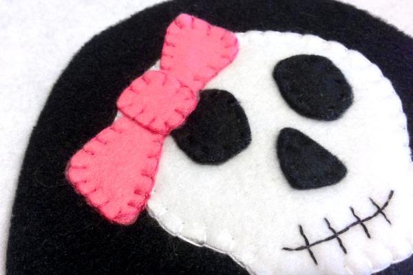 Skeleton Blankie Buddy - Bow Second - Felt With Love Designs