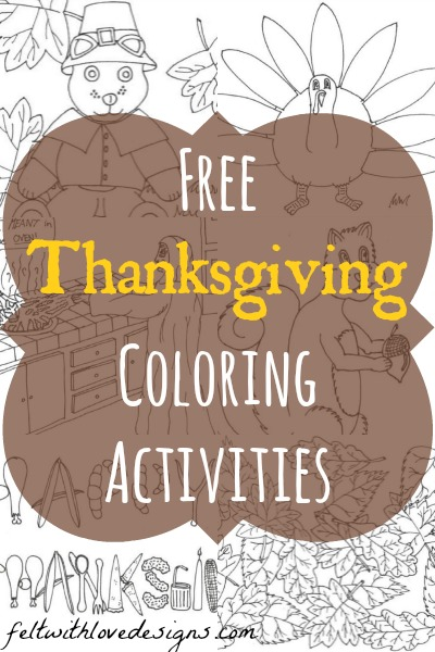 Free Printable Thanksgiving and Autumn Coloring Pages and Activities