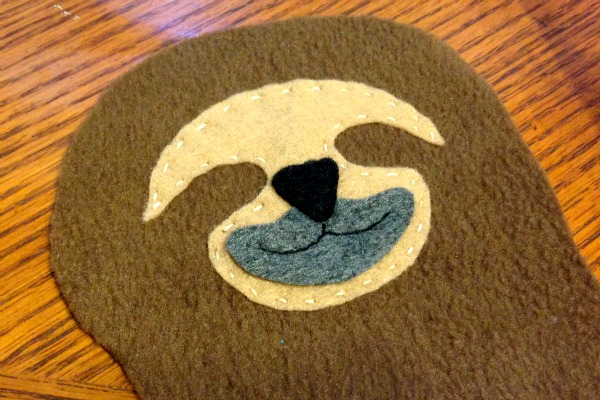 Sloth Blankie Buddy - Mouth Patch - Felt With Love Designs