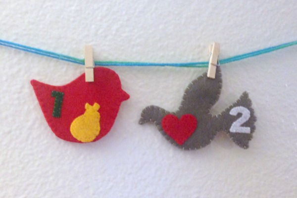12 Days of Christmas Finger Puppets - Day 1 and 2 both - Felt With Love Designs