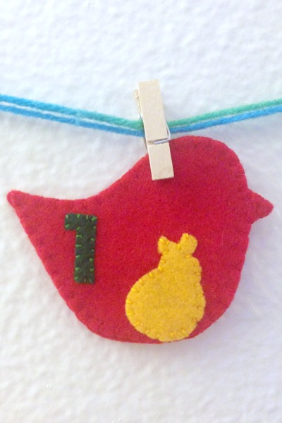 12 Days of Christmas Finger Puppets - Day 1 and 2 partridge - Felt With Love Designs