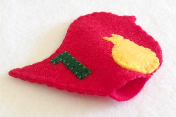 12 Days of Christmas Finger Puppets - Day 1 and 2 partridge bottom - Felt With Love Designs