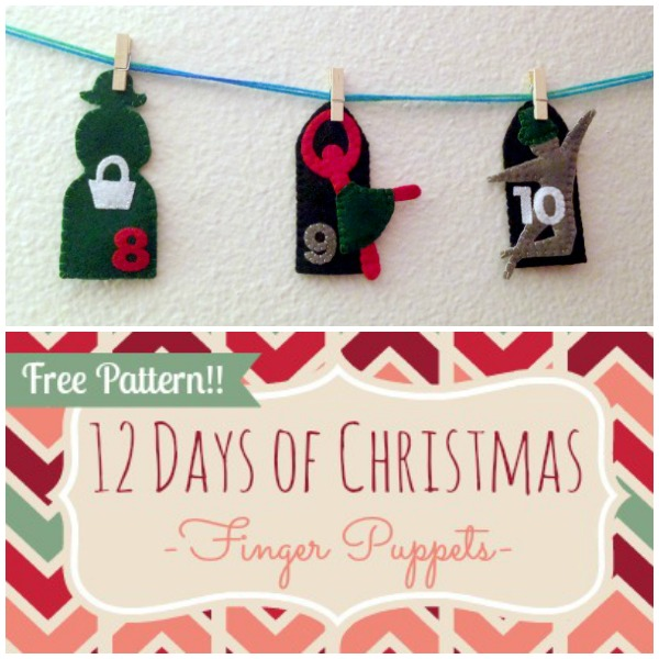 12 Days of Christmas Finger Puppets - Day 10 - Felt With Love Designs
