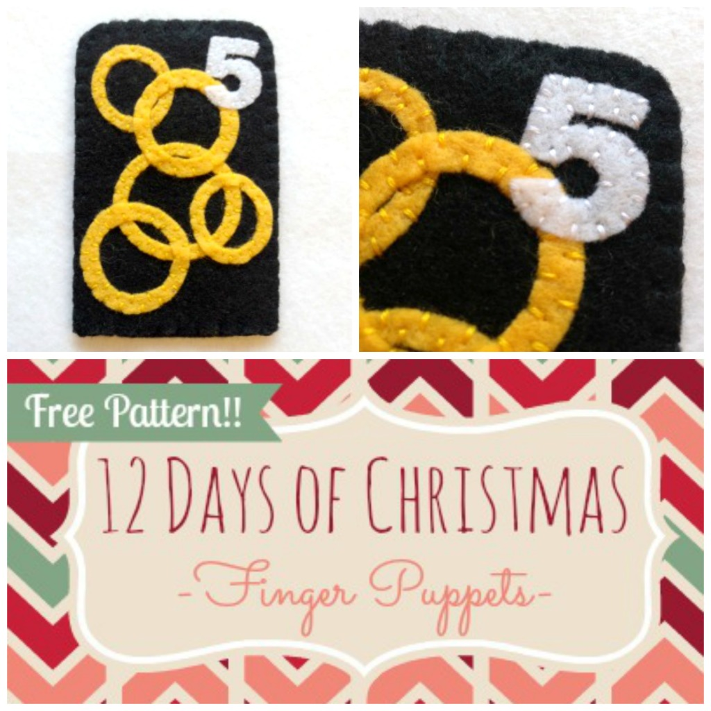 12 Days of Christmas Finger Puppets - Day 5 - Felt With Love Designs