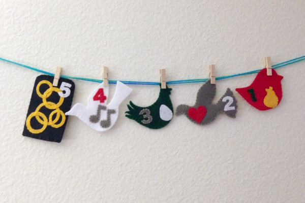 12 Days of Christmas Finger Puppets - Day 5 five - Felt With Love Designs