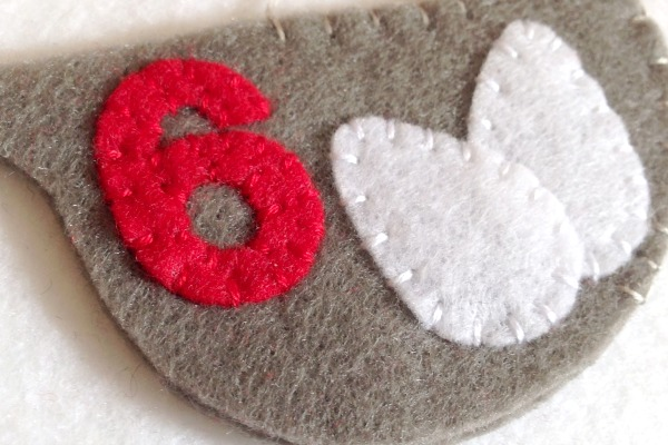 12 Days of Christmas Finger Puppets - Day 6 in progress - Felt With Love Designs