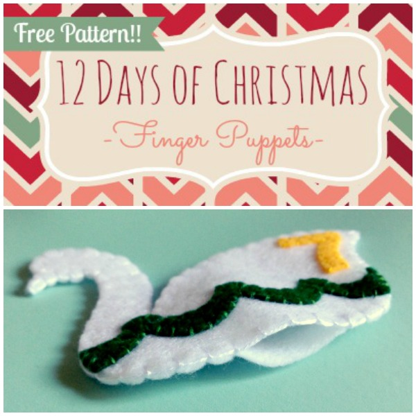 12 Days of Christmas Finger Puppets - Day 7 - Felt With Love Designs