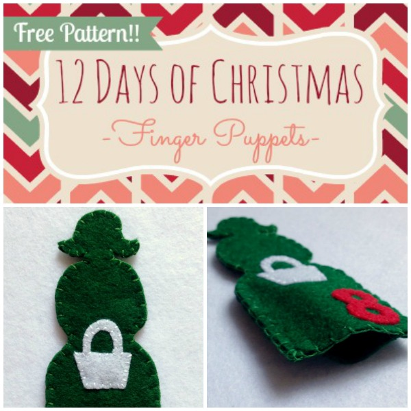 12 Days of Christmas Finger Puppets - Day 8 - Felt With Love Designs