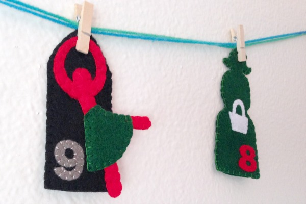12 Days of Christmas Finger Puppets - Day 9 NINE - Felt With Love Designs