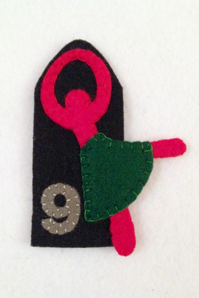 12 Days of Christmas Finger Puppets - Day 9 in progress - Felt With Love Designs