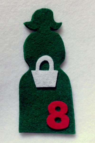12 Days of Christmas Finger Puppets - Day 9 pieces - Felt With Love Designs