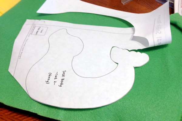Freezer Paper is the Secret to Cutting Perfect Felt Shapes - Outline